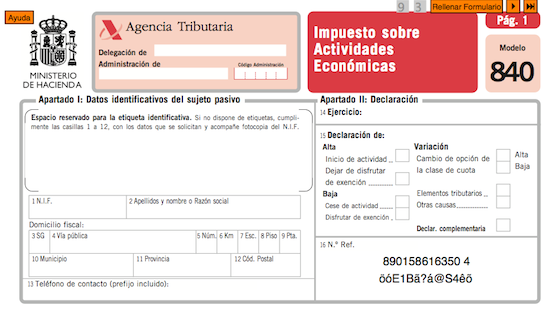 El Impuesto sobre Actividades Económicas (IAE) en Valencia