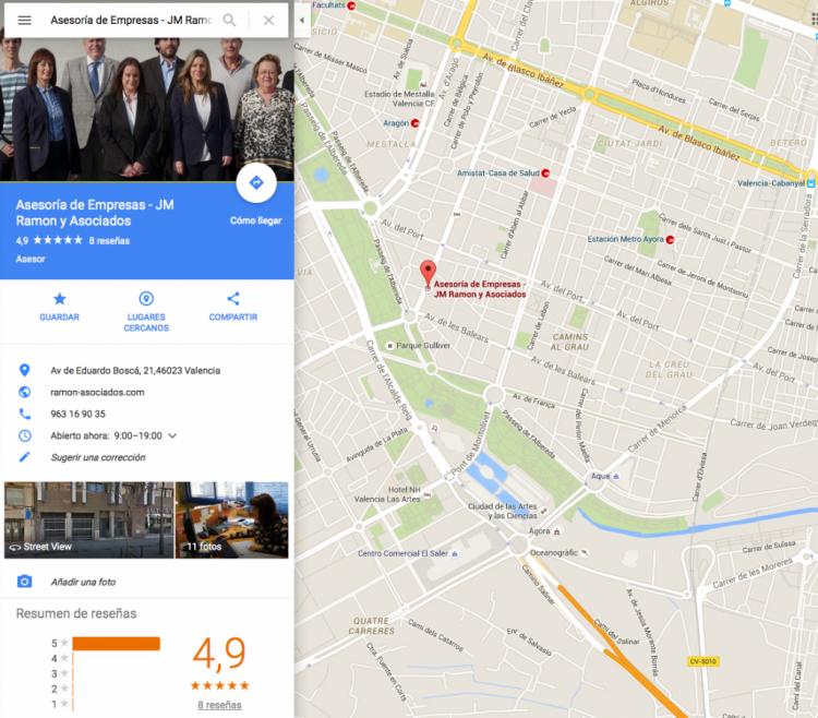 Ramon Asociados en Google Maps
