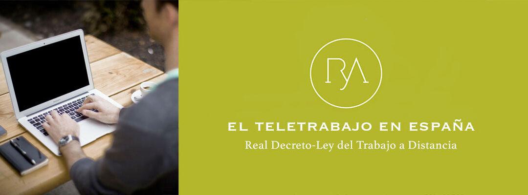 Teletrabajo: Regulación del Trabajo a distancia en 2020